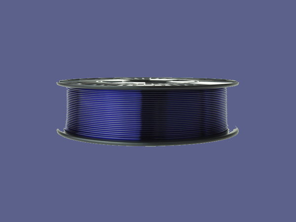 PETG Filament 1,75 mm - Transparent Blau- 0,75 kg