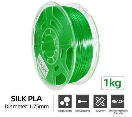 Silk PLA Filament Ø 1,75 mm - Grün - 1,00 kg