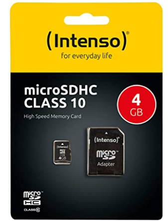 Micro SD Karte 4GB mit Adapter